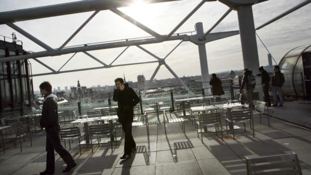 Le restaurant Georges, au Centre Pompidou, à Paris.