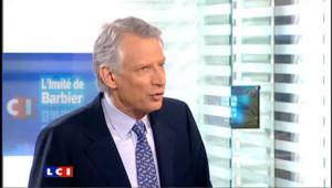 """Villepin : """"Il faut rétablir le Premier ministre dans son rôle"""""""