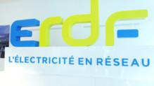 Le nouveau logo d'ERDF, le réseau de distribution électrique en France
