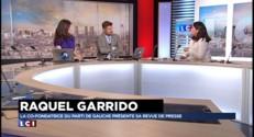Raquel Garrido ( Parti de Gauche) fait se revue de presse