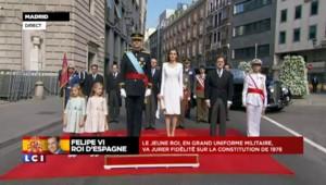 Le roi Felipe VI accueilli par Mariano Rajoy