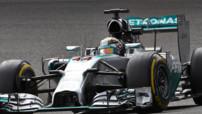 Lewis Hamilton (Mercedes) aux essais du GP Belgique F1 2014