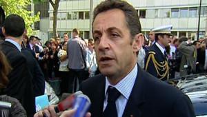Nicolas Sarkozy le 16 mai 2008