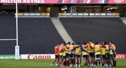 Rugby : le XV de France s'entraîne à Milton Keynes, le 30/9/15