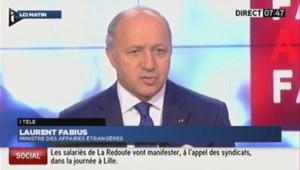 Laurent Fabius sur I>Télé le 07 novembre 2013?