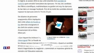 Pour éviter les fuites au bac, l'Algérie bloque les accès à Twitter et Facebook