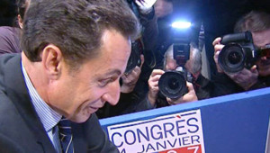 TF1/LCI Sarkozy vote au congrès de l'UMP