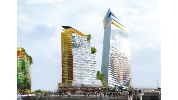 Le projet d'immeuble de grande hauteur à Paris