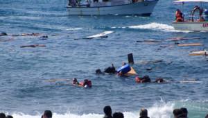 Un voilier transportant plusieurs dizaines de migrants s'est échoué lundi au large de l'île grecque de Rhodes