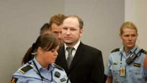 Anders Behring Breivik à son procès le 3 mai 2012