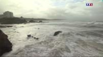 La première tempête hivernale secoue la côte basque