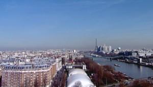 Le ciel de Paris vu depuis la tour TF1.