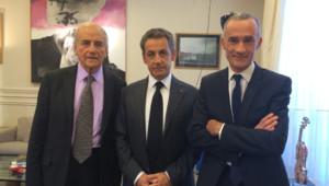 Nicolas Sarkozy, Gilles Bouleau et Elkabbach