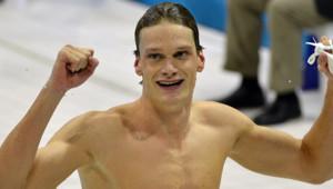 Yannick Agnel sacré champion olympique du 200 m nage libre, le 30 juillet à Londres.