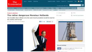 François Hollande sur la Une de The Economist (capture écran du site de l'hebdomadaire le 26 avril 2012)