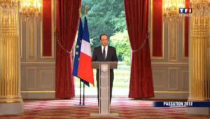 Premier discours de François Hollande à l'Elysée