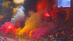 Supporters dans un stade