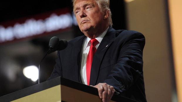 Donald Trump lors du 4e jour de la Convention, le 22 juillet 2016, à Cleveland, Ohio.