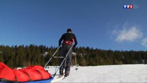 Le 20 heures du 24 janvier 2014 : A la d�uverte de la montagne... en pulka - 1836.985