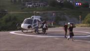 Le 20 heures du 6 juillet 2015 : Lac du Chambon : avec le risque d'éboulement, les riverains se déplacent en hélicoptère - 1219