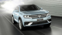Volkswagen Cross Coupé GTE, concept-car de crossover hybride rechargeable présenté au Salon de Detroit en janvier 2015