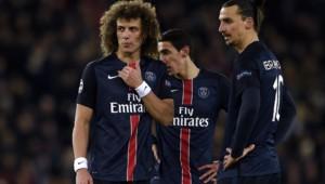 David Luiz, Angel Di Maria et Zlatan Ibrahimovic