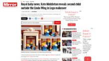 Article du Mirror sur la naissance du Royal Bébé en Lego