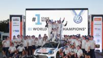 Volkswagen Motorsport qui fête son titre à l'issue du Rallye d'Australie 2014.