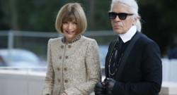 Anna Wintour et Karl Lagerfeld à Paris en octobre 2014