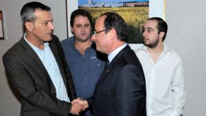 François Hollande en visite à Florange le 26/09/13