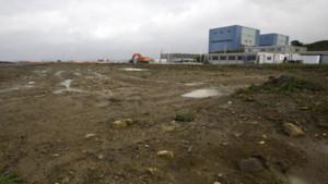 Le terrain vague qui devrait accueillir les deux réacteurs nucléaires d'Hinkley Point en Angleterre