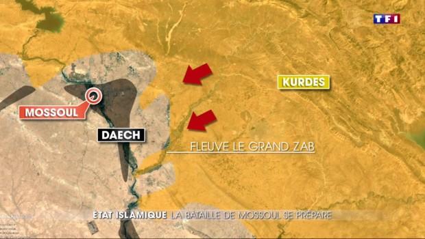 Mossoul, fief de Daech à portée des forces kurdes et irakiennes