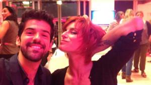 Selfie pour Miguel Angel Muñoz et Fauve Hautot (Danse avec les stars 5, septembre 2014).