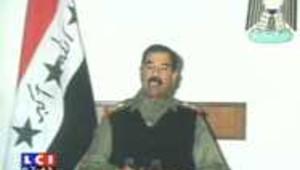 irak saddam hussein allocution télévision guerre du golfe