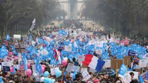 La manifestation contre le mariage pour tous dimanche 13 janvier à Paris