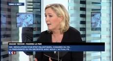"""Marine Le Pen : """"Si la Palestine devient un Etat, il aura des responsabilités"""""""