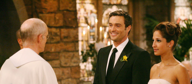Les feux de l'amour_Cane (Daniel Goddard) and Lily's (Christel kHALIL) 1st wedding