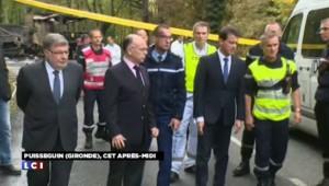 Collision mortelle en Gironde : Valls sur les lieux du drame