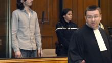 Gérald Sereau, en arrière-plan, condamné le 21 novembre 2014 pour le meurtre et le viol de Léa 17 ans le 1er janvier 2011 à Montpellier