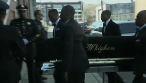 Le cercueil de Whitney Houston lors de ses funérailles, le 18 février 2012, près de New York City.