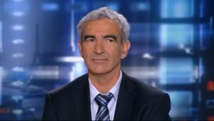 Raymond Domenech sur le plateau du 20h de TF1 le 11 mai