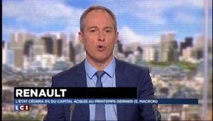 Renault : l'Etat cédera 5% du capital acquis au printemps dernier