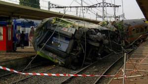 Accident mortel en gare de Brétigny dans l'Essonne, le 12 juillet 2013.