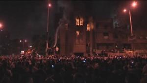 Eglise incendiée au Caire lors d'affrontements entre coptes et musulmans (07/05/2011)