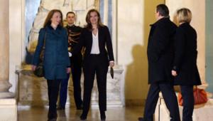 Florence Cassez a été reçue par François Hollande et Valérie Trierweiler à l'Elysée au ledemain se son retour en France.