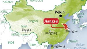 L'épidémie de grippe en Chine dans la région du Jiangsu