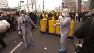 Manifestation anti-nucléaire à Berlin le 26 mars 2011 à la veille de régionales clé en Allemagne