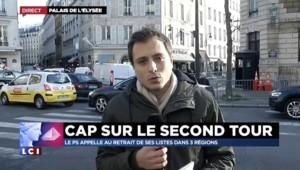 Régionales : le coup de téléphone de François Hollande à Manuel Valls, à l'annonce des résultats