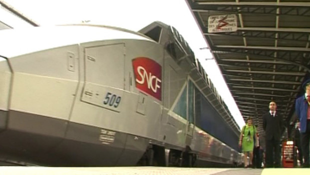TF1/LCI : TGV en gare de l&#039;Est,  Paris