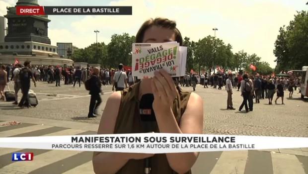 """Manifestation contre la loi Travail : """"On ne lâche rien, on ne lâche plus, c'est la faute à Manu"""""""